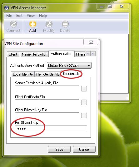 IPSec VPN Windows Client - Amahi Wiki