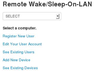 Wake-On-LAN Server