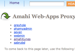 Amahi Web-Apps Proxy